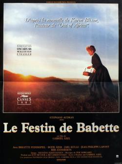 Le festin de babette affiche de film 40x60 cm 1989 stephane audran gabriel axel